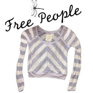 WE THE FREE by fee people Mesh Sweater Top